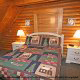Bedroom View of Cabin 22 (Beaver Lodge) at Eagles Ridge Resort at Pigeon Forge, Tennessee.