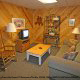 Den View of Cabin 22 (Beaver Lodge) at Eagles Ridge Resort at Pigeon Forge, Tennessee.