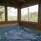 Hot Tub on Deck in Cabin 22 (Beaver Lodge) at Eagles Ridge Resort at Pigeon Forge, Tennessee.