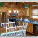 Kitchen View of Cabin 22 (Beaver Lodge) at Eagles Ridge Resort at Pigeon Forge, Tennessee.