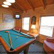 Game Room View of Cabin 22 (Beaver Lodge) at Eagles Ridge Resort at Pigeon Forge, Tennessee.