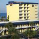Bird Eye View of the Best Western Ocean Beach Hotel & Suites in Cocoa Beach, Florida. The hotel offers the best value for affordable Presidents Day Family Getaway.