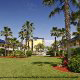 Beautifully Landscaped Back Yard at the Best Western Ocean Beach Hotel & Suites in Cocoa Beach, Florida.  Enjoy the gorgeous outdoors and local things to do while on your Family Easter Vacation.