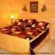 Picture of a cabin bedroom at the Eagles Ridge in Pigeon Forge Tennessee.