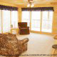 Picture of a den from one of the cabins at the Eagles Ridge in Pigeon Forge Tennessee.