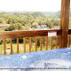 From your hot tub / jacuzzi on your cabin deck, you can enjoy breathtaking views of the magnificent Smoky Mountains.