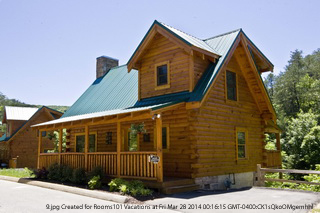 Pigeon forge luxury cabin rental deal only 39 per night for Eagles ridge log cabin