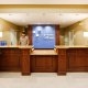 Holiday Inn Express and Suites Mt. Pleasant front desk