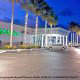 Exterior Night View At Holiday Inn Hotel In Cocoa Beach, Florida.