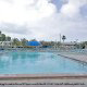 Swimming Pool View At Holiday Inn Hotel In Cocoa Beach, Florida.