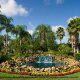 Beautiful Pond and Waterfall at Mystic Dunes Resort & Golf Club in Orlando, Florida.