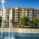 Panoramic View with Water Fountains at Mystic Dunes Resort & Golf Club in Orlando, Florida.