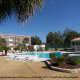 Outdoor Pool View with Gazebo at the Ocean View Vacation Villas in Biloxi, Mississippi.
