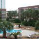 Backyard Pool View at the Ocean View Vacation Villas in Biloxi, Mississippi.