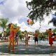 Fountains from the ground keep the kids at play for hours at the Star Island Resort and Club in Orlando Florida.