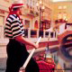 Gondolier Picture at The Venetian Resort Hotel and Casino in Las Vegas, Nevada.