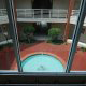 Elevator view of the courtyard at the Wild Wing Resort in Myrtle Beach South Carolina.