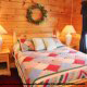 One of 6 bedrooms in cabin 101 (Heavenly Hideaway) at Eagles Ridge Resort at Pigeon Forge, Tennessee.