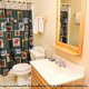 Beautiful bathroom in cabin 101 (Heavenly Hideaway) at Eagles Ridge Resort at Pigeon Forge, Tennessee.