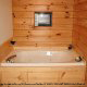 Jacuzzi View of Cabin 11 (Sweet Serenity) at Eagles Ridge Resort at Pigeon Forge, Tennessee.