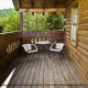 Back Deck View of Cabin 15 (A Bears Life) at Eagles Ridge Resort at Pigeon Forge, Tennessee.