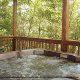 Hot Tub on Deck in Cabin 20 (Eagles Roost) at Eagles Ridge Resort at Pigeon Forge, Tennessee.