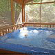 Hot Tub on Deck in Cabin 202 (Now And Forever) at Eagles Ridge Resort at Pigeon Forge, Tennessee.