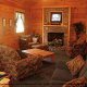 Family Room View of Cabin 203 (Kevins Haven) at Eagles Ridge Resort at Pigeon Forge, Tennessee.