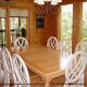 Large country dining room in cabin 207 (Count Your Blessings) at Eagles Ridge Resort at Pigeon Forge, Tennessee.