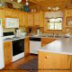 Fully furnished kitchen in cabin 207 (Count Your Blessings) at Eagles Ridge Resort at Pigeon Forge, Tennessee.