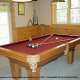 Game room with pool table in cabin 207 (Count Your Blessings) at Eagles Ridge Resort at Pigeon Forge, Tennessee.