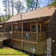 Outside View of Cabin 223 (Youngs Hideaway) at Eagles Ridge Resort at Pigeon Forge, Tennessee.