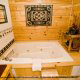 Private Jacuzzi View of Cabin 223 (Youngs Hideaway) at Eagles Ridge Resort at Pigeon Forge, Tennessee.