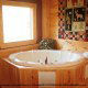 Round Jacuzzi View of Cabin 224 (Southern Comfort) at Eagles Ridge Resort at Pigeon Forge, Tennessee.