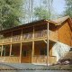 Exterior View of Cabin 225 (Vivs View) at Eagles Ridge Resort at Pigeon Forge, Tennessee.