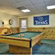 Game room with pool table in cabin 233 (Bear Creek Lodge) at Eagles Ridge Resort at Pigeon Forge, Tennessee.