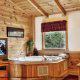 Private jacuzzi tub in cabin 233 (Bear Creek Lodge) at Eagles Ridge Resort at Pigeon Forge, Tennessee.