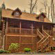 Outside front view of cabin 233 (Bear Creek Lodge) at Eagles Ridge Resort at Pigeon Forge, Tennessee.
