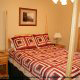 One of 5 country bedrooms in cabin 234 (Dancing Bear Lodge) at Eagles Ridge Resort at Pigeon Forge, Tennessee.