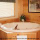 Private jacuzzi tub in cabin 234 (Dancing Bear Lodge) at Eagles Ridge Resort at Pigeon Forge, Tennessee.