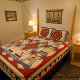 One of 7 country bedrooms in cabin 241 (Eagle Crest Lodge) at Eagles Ridge Resort at Pigeon Forge, Tennessee.