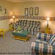Large country den in cabin 241 (Eagle Crest Lodge) at Eagles Ridge Resort at Pigeon Forge, Tennessee.