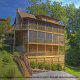 Outside view of cabin 241 (Eagle Crest Lodge) at Eagles Ridge Resort at Pigeon Forge, Tennessee.