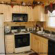 Fully furnished kitchen in cabin 248 (Scenic Hideaway ) , in Pigeon Forge, Tennessee.