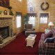 Living room with fire place in cabin 248 (Scenic Hideaway ) , in Pigeon Forge, Tennessee.
