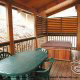 Large back deck with hot tub cabin 251 (Eagles Landing ) , in Pigeon Forge, Tennessee.