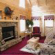 Large living room with fire place in cabin 251 (Eagles Landing ) , in Pigeon Forge, Tennessee.