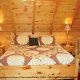 Country bedroom in cabin 253 (Mt Richmond) at Eagles Ridge Resort at Pigeon Forge, Tennessee.