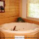 Private jacuzzi tub in cabin 253 (Mt Richmond) at Eagles Ridge Resort at Pigeon Forge, Tennessee.