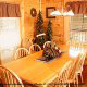 Country dining room in cabin 255 (Happy Trails) at Eagles Ridge Resort at Pigeon Forge, Tennessee.